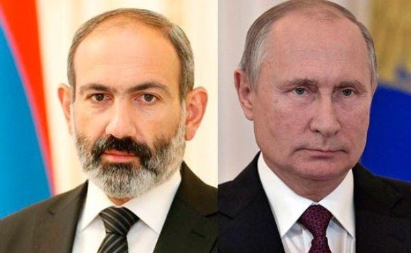 Пашинян сообщил Путину онеполном выполнении Баку соглашений поКарабаху