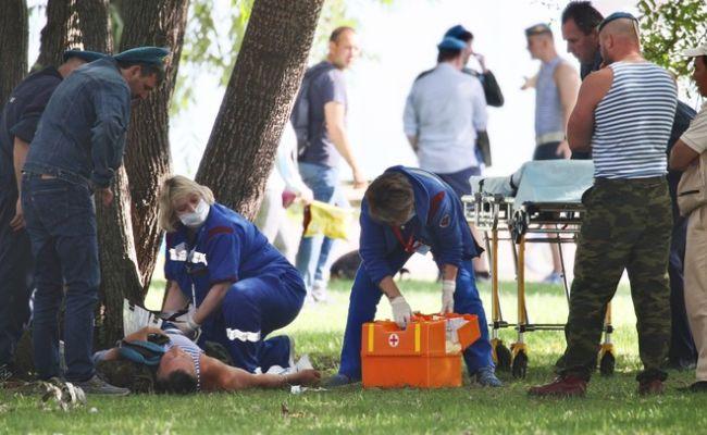 В Москве десантники подрались с ОМОНом, один человек пострадал