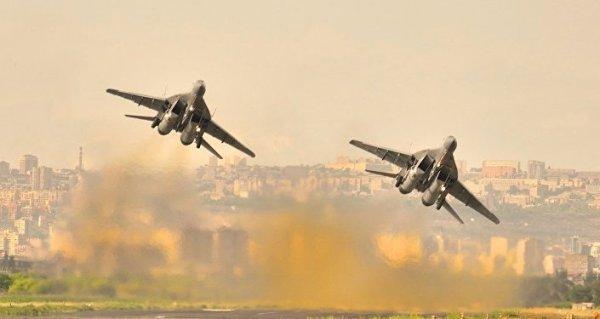 Лётчики Армении иРоссии провели воздушный бой сусловным противником