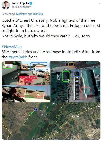 Боевик изСирии: Задача— быстро продвинуться вглубь Карабаха на70−80 км