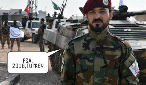 Боевик Саиф Абу Бакр в рядах турецких сил вторжения, декабрь 2018 год