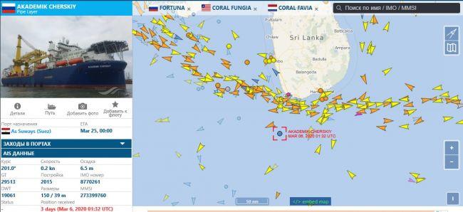 Трубоукладчик «Газпрома» пошел в Европу в сопровождении боевых кораблей